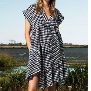 Sea New York ruffle gingham dress